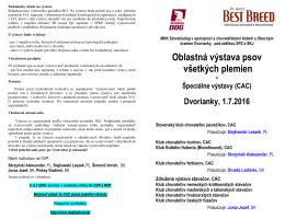 Propozície na OVP+ŠVP Dvorianky 2016