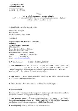 VÚ 1056 Zemianske Kostoľany - Ovocie a