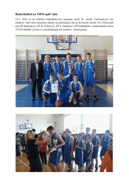 Basketbalisti na THM opäť zlatí