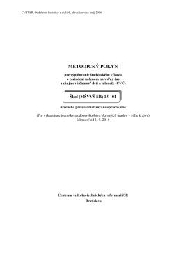 metodický pokyn - Centrum vedecko
