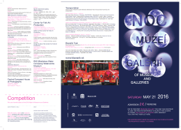 ENG Noc muzei 2016 program - Slovenské národné múzeum