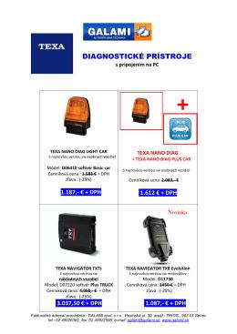 diagnostické prístroje