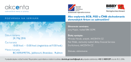 Ako ovplyvnia ECB, FED a ČNB obchodovanie slovenských firiem