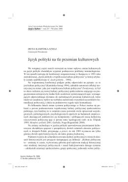 Pobierz artykuł - Język a Kultura
