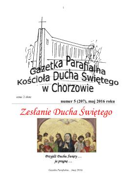 Kącik liturgiczny - Parafia Ducha Świętego w Chorzowie