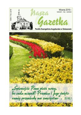 gazetka 51 wiosna 2016 – pdf - Parafia Ewangelicko