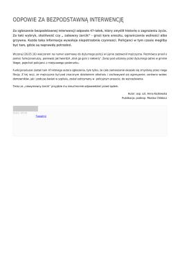 odpowie za bezpodstawną interwencję - Policja Kujawsko