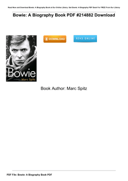 Bowie: A Biography Book PDF #214882 Book Author