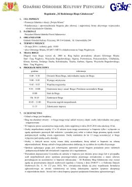 Regulamin biegu - dokument do pobrania