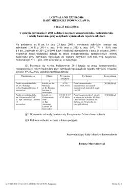 Uchwala Nr XX/190/2016 z dnia 23 maja 2016 r. - BIP