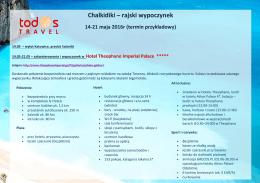 Chalkidiki – rajski wypoczynek