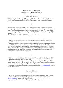 Regulamin Plebiscytu