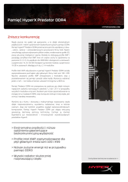 Pamięć HyperX Predator DDR4