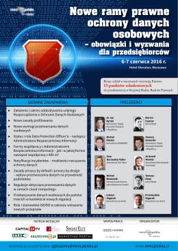 Nowe ramy prawne ochrony danych osobowych