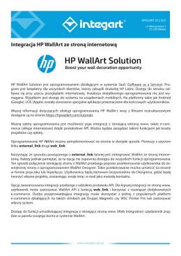 Instrukcja integracji HP Wall Art ze stroną www (PL)