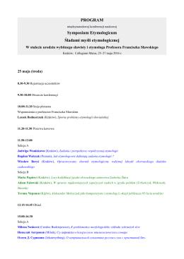 program - Instytut Slawistyki PAN