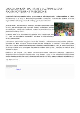 droga donikąd - spotkanie z uczniami szkoły podstawowej nr 45 w