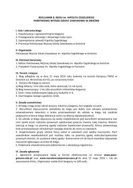 Regulamin 8 Biegu im. H. Cegielskiego 2016