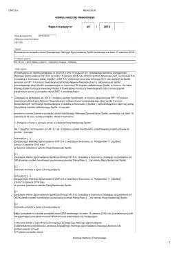 RB 45/2016 - Centrum Nowoczesnych Technologii Spółka Akcyjna