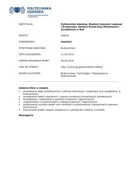 Pobierz ofertę  - Politechnika Gdańska