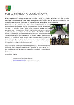 polsko-niemiecka policja rowerowa