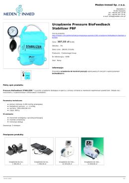 Urządzenie Pressure BioFeedback Stabilizer PBF - Meden