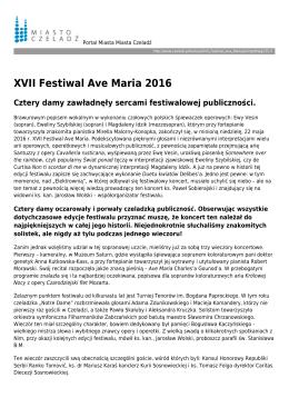 XVII Festiwal Ave Maria 2016