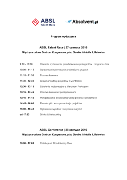 Pobierz program - Program ABSL Talent Race
