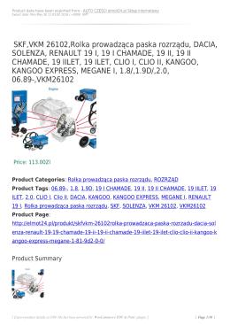 SKF,VKM 26102,Rolka prowadząca paska rozrządu