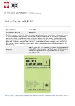 Główny Urząd Statystyczny / Obszary tematyczne / Inne