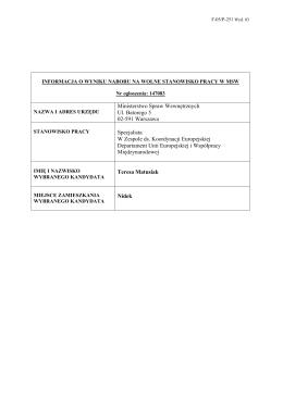 Ministerstwo Spraw Wewnętrznych Ul. Batorego 5 02