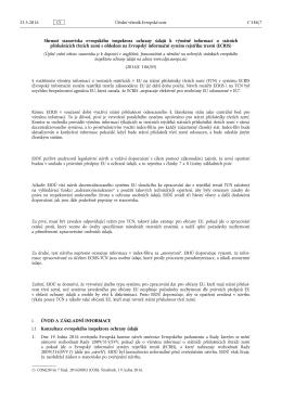 Shrnutí stanoviska evropského inspektora ochrany