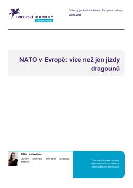 NATO v Evropě: více než jen jízdy dragounů - Think