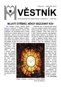 Věstník č. 6/2016 - Panny Marie Královny míru
