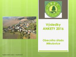 na úřední desce - Obec Mikulovice