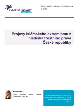 Projevy islámského extremismu z hlediska trestního práva České