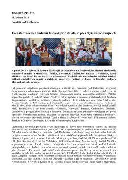 Frenštát rozezněl hudební festival, představilo se přes čtyři sta