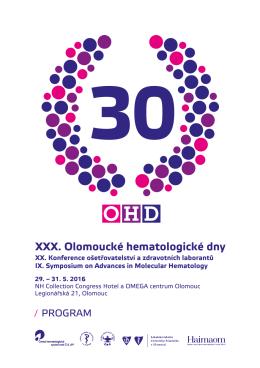Program 2016 - OHD - Olomoucké Hematologické dny
