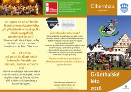 Grünthalské léto 2016