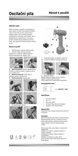 Oscilační pila - Aura Medical sro