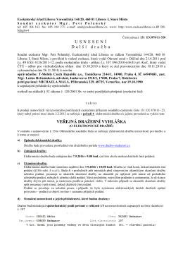 Exekuční úřad Liberec- dražební vyhláška