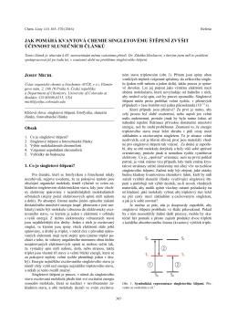 jak pomáhá kvantová chemie singletovému štěpení zvýšit účinnost