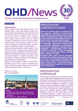 Noviny OHD 2 - OHD - Olomoucké Hematologické dny