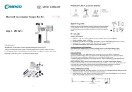 1369493 Bluetooth meteostanice FODY Tempus Pro