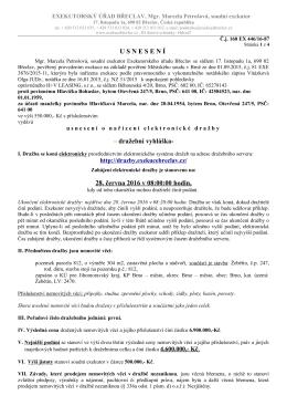 dražební vyhláška - Úřední deska