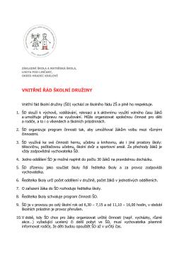 vnitřní řád školní družiny - Základní škola a Mateřská škola, Lhota