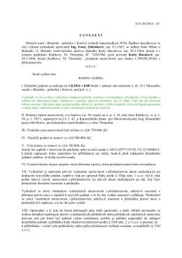 Okresní soud v Bruntále - Usnesení, č.j. 32 E 46/2015