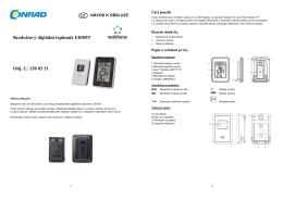 1380331 Bezdrátový digitální teploměr Renkforce E0109T