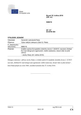 9466/16 mg/MGA/mb 1 DGG 1B Delegace naleznou v příloze závěry