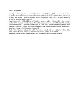 Informace k OZV č. 4/2015 o ochraně nočního klidu